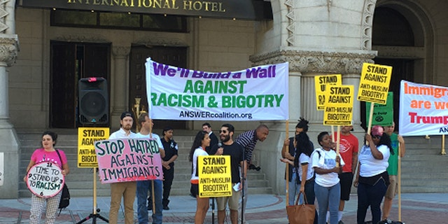 Sept. 12: Protesters gather outside the Trump International Hotel in Washington, D.C.