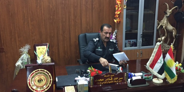 Gen. Sarhad Qader Mohammad, director of the Districts and towns of Kirkuk Province Police Department, is all in on Trump.