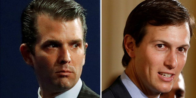 Trump Jr. (l.), and Kushner, (r.), were at the meeting