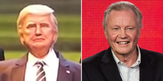More than a couple of baffled Twitter users have likened the Disney's animatronic Trump to Oscar-winner Jon Voight.