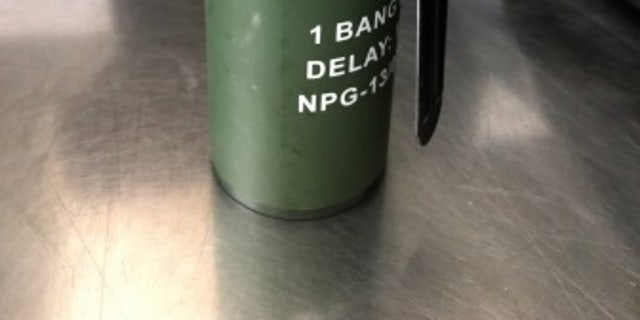 A live smoke grenade was found in a traveler's carry-on bag at Raleigh-Durham.