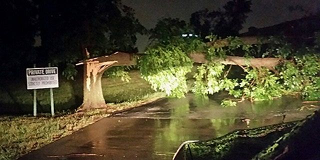 Damage after a possible tornado was reported in Tulsa, Oklahoma.