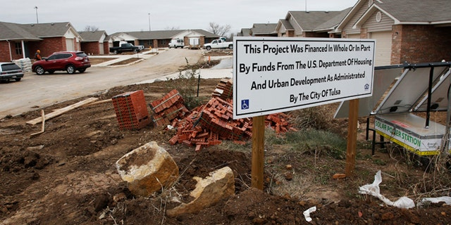New housing developments being built are seen in north Tulsa, Oklahoma, in December of 2016.