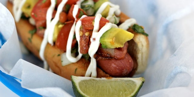 This takes the bacon-wrapped dog to the next level.