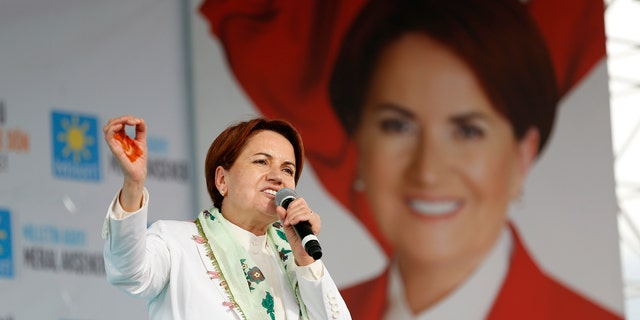 Meral Aksener was the only female candidate in the presidential race.