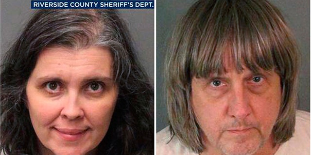 Louise Turpin, left, and David Turpin, were hit with numerous charges Thursday after police say they found several of their children shackled up Sunday inside their home in Perris, California.
