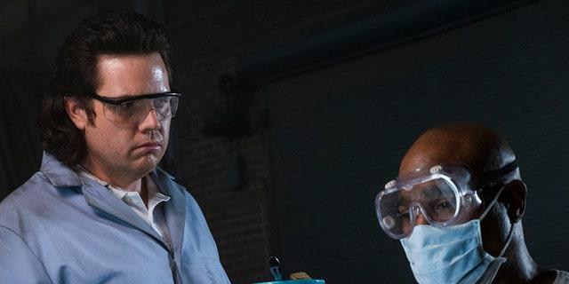 Seth Gilliam as Father Gabriel Stokes, Josh McDermitt as Dr. Eugene Porter - The Walking Dead _ Season 8, Episode 15 - Photo Credit: Gene Page/AMC