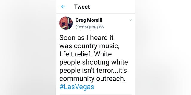 Morelli's tweet has since been deleted, but people are still expressing their outrage for his words