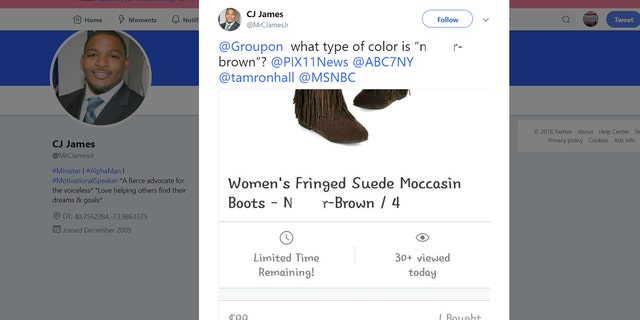 People on social media expressed outrage over the ad's use of a racial slur.