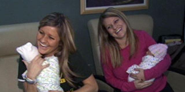 Michigan twins Alison Oliverio and Amy Gilbert.