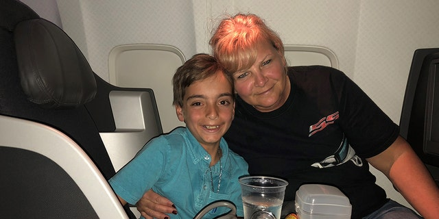 """My son's story will be the platform to make a change because watching this unfold in front of me & my three children was terrifying. I am forever grateful for everyone on that flight who aligned themselves to save his life,"" the mom said."