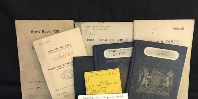Items in the archive that is up for auction in the U.K. (Henry Aldridge & Son)