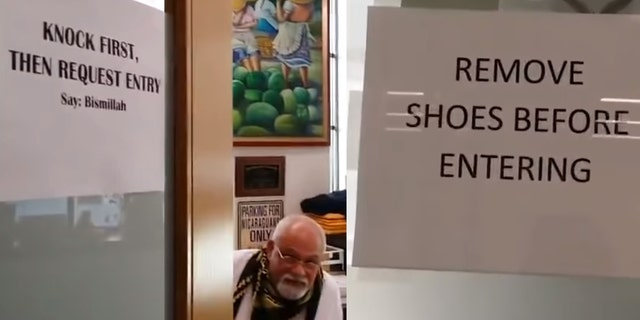 Retired Muslim biology professor at UConn, Felix Coe, required students to remove their shoes and say an Arabic phrase before entering his office.