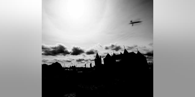 This image from the Netherlands appears to show some kind of object flying above Muiderslot Castle outside Amsterdam.