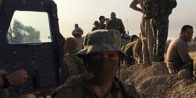 Dave, a British voluneeter with the Kurds in Iraq