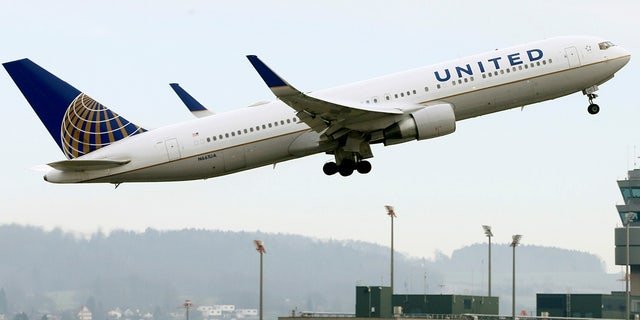 A United Airlines flight from Newark, N.J. to Portland, Ore. blew a tire during takeoff.