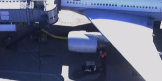 According to reports, no passengers were on board the plane at the time of the incident and no one was injured.