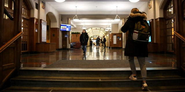 Students enter the University of Michigan Union on Dec. 5, 2017. The Union is closing in the spring and is expected to stay closed for 20 months as part of an $85.2 million renovation project.