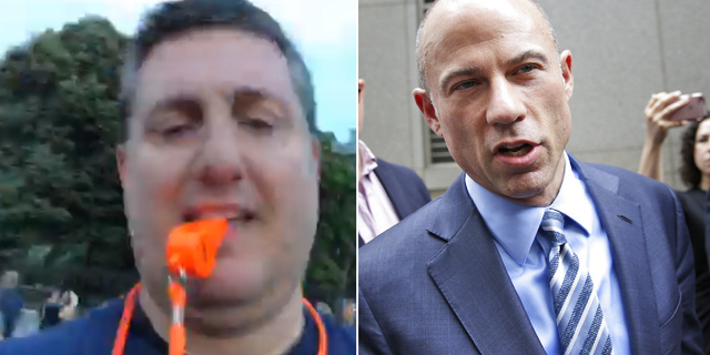 Longtime Democratic operative Philippe Reines and lawyer Michael Avenatti, preparing a protest outside the White House on Tuesday night.