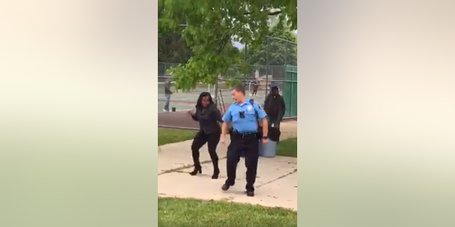 "The Lansing Police Department posted the video on Facebook showing the officer dancing to ""Cupid Shuffle."""