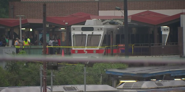 The SEPTA train involved in the crash that injured 42 people.