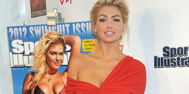 Sports Illustrated Swimsuit edition cover model Kate Upton poses at the magazine's launch party in New York, Tuesday, Feb. 14, 2012.