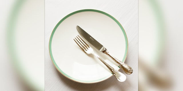 In the U.S. this is how you leave your cutlery when you are finished with a meal.