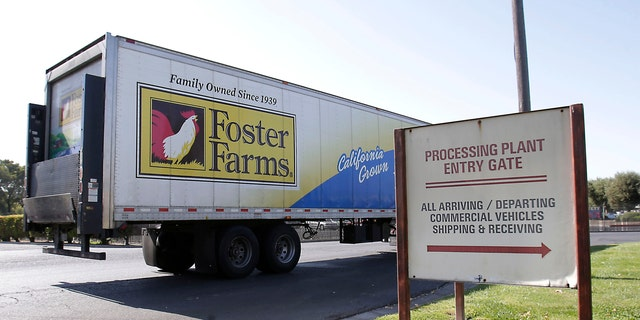 FILE: A truck enters the Foster Farms processing plant in Livingston, Calif.