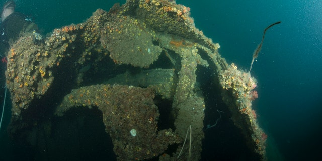 The World War II wreck of the USS Houston as seen in 2015.
