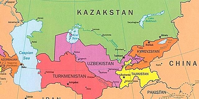 Uzbekistan borders Turkmenistan, Kazakstan, Afghanistan, Tajikistan and Kyrgyzstan.