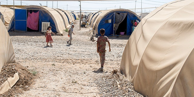 Displaced persons in Mosul, Iraq