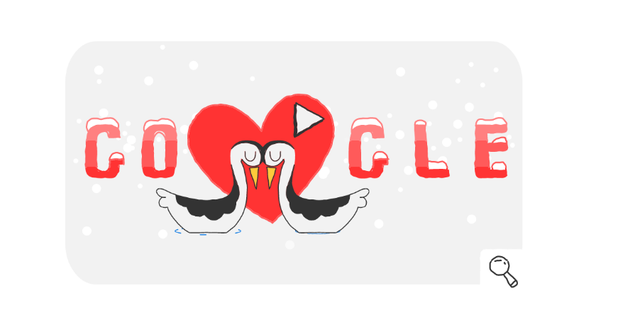 Google celebrates many special occasions with a doodle, such as Valentine's Day.