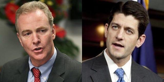 Reps. Chris Van Hollen, D-Md., left, and Paul Ryan, R-Wis.