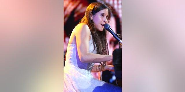 December 10, 2004. Singer Vanessa Carlton performs during Z100's Jingle Ball 2004 concert at Madison Square Garden, in New York.