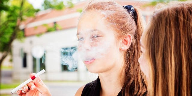 Teen vaping rates have doubled since 2017, with 25 percent of high school seniors reportedly using e-cigarettes.