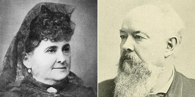 Arcadia de Baker, (l.), and John Percival Jones, (r.), intended for the 400 acres they deeded to benefit veterans.