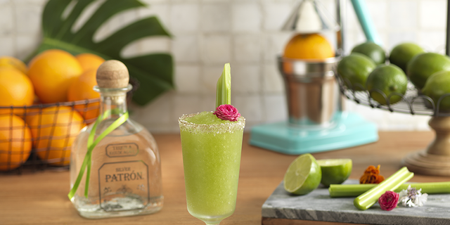 This Verde Margarita serves up a tropical St. Patty's Day twist.