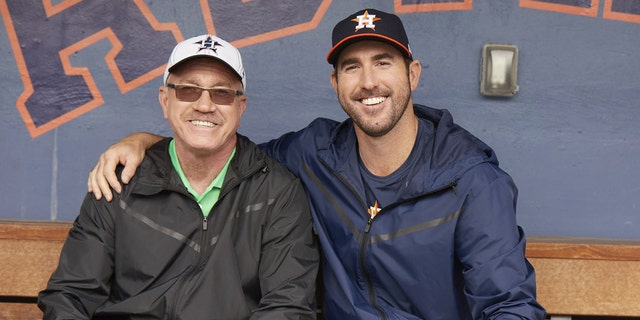 Verlander with his father Richard.