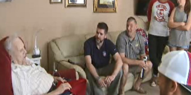 Marines who served tours in Iraq and Afghanistan heard what happened to Banks and met with him Sunday to swap stories.