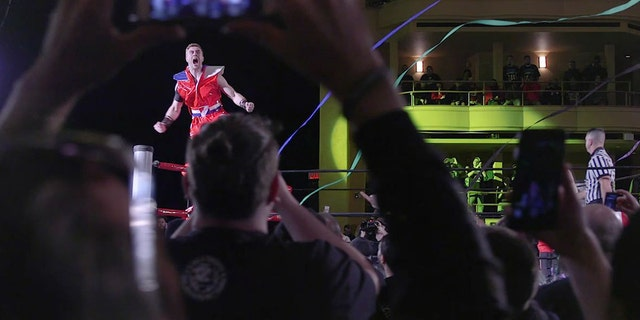 Wrestler Will Ospreay at a Ring of Honor event.
