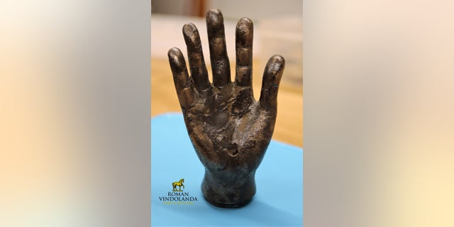The ancient bronze hand (The Vindolanda Trust)