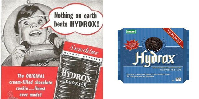 Hydrox cookies, then and now.