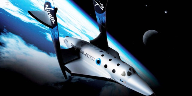 Virgin Galactic's first SpaceShipTwo, an air-launched suborbital spaceplane type designed for space tourism. (Virgin Galactic via AP)