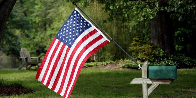 A flag attached to the mailbox in Virginia Beach.