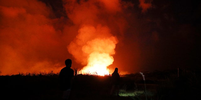 The eruption of Kilauea volcano in Hawaii sparked new safety warnings about toxic gas on the Big Island's southern coastline after lava began flowing into the ocean and setting off a chemical reaction.