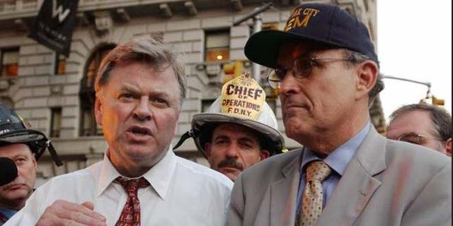 Von Essen, shown here with then-Mayor Rudy Giuliani.