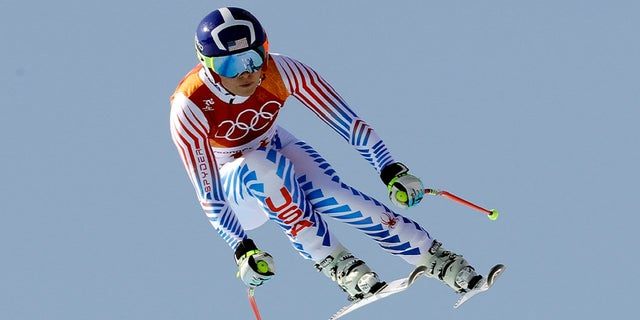 Lindsey Vonn competes in the women's combined downhill at the 2018 Winter Olympics in Jeongseon, South Korea, Thursday, Feb. 22, 2018.