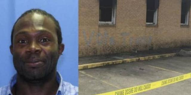 The Mississippi church and the man who was arrested for setting the fire, Andrew McClinton.