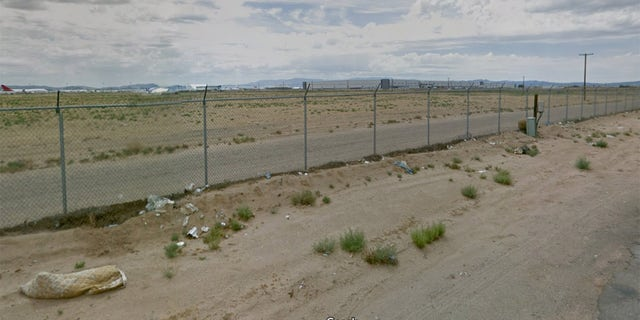 A Google Street view image from 2015 shows an empty expanse where the storage lot is now located.