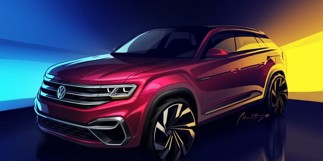 A two-row version of the Atlas will be revealed at the New York Auto Show.